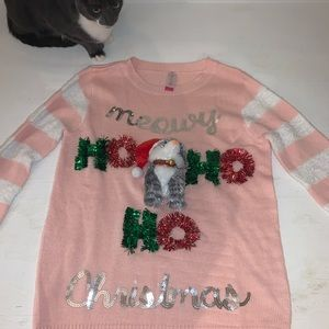 Sweaters - Meowy Christmas sweater (real cat not included)